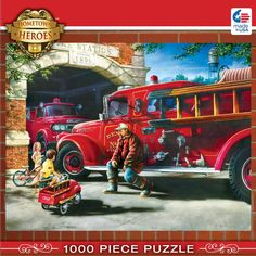 Hometown Heroes - Firehouse Dreams - 1000 Piece Jigsaw Puzzle