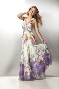 Hippie style evening dresses