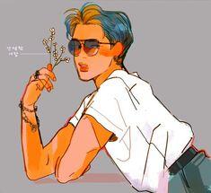 His Hotness, Jimin - shi! Jimin Fanart, Kpop Fanart, Character Art, Character Design, Pelo Anime, Bts Drawings, Art Sketches, Cute Art, Art Inspo