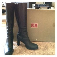 Authentic Cole Haan Boots Cole Haan Boots in Black -Size 5B. In great Condition, wore a few times looks almost New. Great for dresses or jeans. Cole Haan Shoes