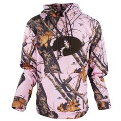 Mossy Oak Performance Logo Hoody in Break-Up Pink