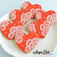 Sugar Dot Cookies: Engagement Party Sugar Cookies with Royal Icing - Sugar Dot Cookies: Engagement Party Sugar Cookies with Royal Icing - Fancy Cookies, Iced Cookies, Cute Cookies, Cupcake Cookies, Summer Cookies, Cookie Favors, Easter Cookies, Christmas Cookies, Valentine's Day Sugar Cookies