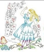 Alice in Wonderland Alice  Cards  by HeritageEmbroidery on Etsy, $25.00