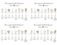 Die großen Tag 'Hochzeitstag' Timeline Karte für von pixelstopaper