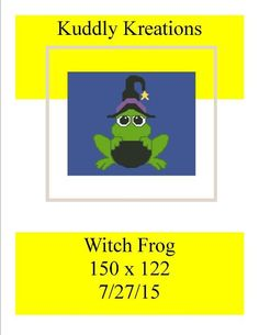 Looking for your next project? You're going to love Witch Frog 150 x 122  by designer Shell Cox. - via @Craftsy