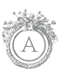 Monogram 'A' via Martha Stewart Template.