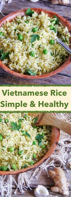 30 min, easy recipe for healthy Vietnamese Style Rice, which works great on its own, but can easily complement a nice fish or meat dish. # Easy Recipes for work VIETNAMESE STYLE RICE Meat Recipes, Mexican Food Recipes, Vegetarian Recipes, Cooking Recipes, Healthy Recipes, Ethnic Recipes, Recipes For Rice, Healthy Vietnamese Recipes, Chinese Recipes
