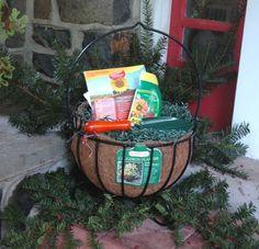 Planter gift basket idea