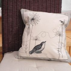 Embroidered and appliqued cushion