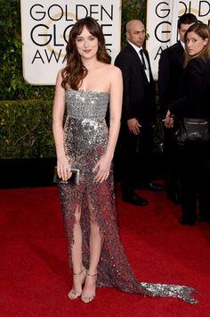 Dakota Johnson in Chanel   Golden Globes 2015: The red carpet's 50 best dressed celebrities