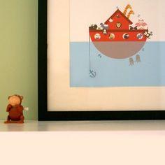 Noah's Ark Print  Personalized by pocketstudio on Etsy, £18.00