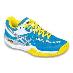 Asics Gel-Blast 6 női teremcipő, kék-sárga-fehér Nike Tennis Shoes, Adidas Shoes, Asics Women, Kid Shoes, Women's Shoes, Court Shoes, Shoe Sale, Shoes Online, Running Shoes