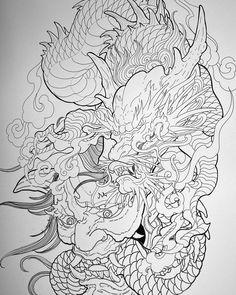 Dragon Tattoo Colour, Dragon Head Tattoo, Dragon Tattoos For Men, Dragon Sleeve Tattoos, Dragon Tattoo Designs, Japanese Wave Tattoos, Japanese Dragon Tattoos, Japanese Tattoo Designs, Japanese Sleeve Tattoos