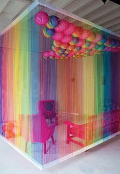 Rainbow Room - Pierre Le Riche: Through the implementation of colourful and…
