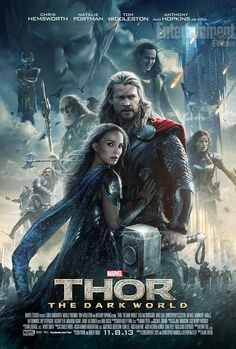 Póster con todo el elenco de la secuela de #Thor #TheDarkWorld... Estreno en octubre!!!!!