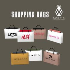 Leo Sims - Shopping Bags for The Sims 4 - Sims 4 - Bags . - All For Hairstyles Sims Four, Les Sims 4 Pc, Sims 3, Sims 4 Tsr, Sims 4 Mods, Sims 4 Game Mods, Sims 4 Cc Folder, The Sims 4 Cabelos, The Sims 4 Packs