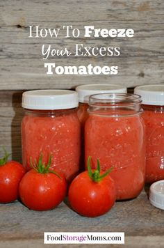 How To Freeze Your Excess Tomatoes by Food Storage Moms