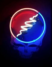 """Grateful Dead """"Steal Your Face"""" Neon Light 18"""" limited edition"""