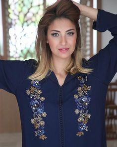 3,198 Followers, 1,836 Following, 375 Posts - See Instagram photos and videos from Wima_model (@ouiamsdk__official) Abaya Fashion, Suit Fashion, Ethnic Fashion, Morrocan Kaftan, Moroccan Dress, Hand Embroidery Dress, Kurti Embroidery Design, Beaded Embroidery, Mirror Work Blouse Design