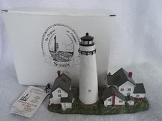 Scaasis Lighthouse Fenwick Island Delaware Still in Original Box 6x8 Inches