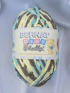 Beach Babe 04325 Yarn Big 10.5 oz Skein ~ Bernat Baby Blanket Yarn ~ Blanket Yarn ~ Super Bulky Yarn ~ Baby Yarn ~ Crochet Blanket Yarn by dcoyshouseofyarn on Etsy