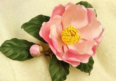 Bridal flower comb camellia flower spring by PresentPerfectStudio