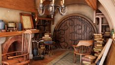 Hobbit Door, The Hobbit, Hobbit House Interior, Fairytale House, Round Door, Witch House, Decoration, Future House, Sweet Home