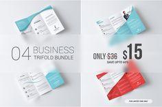 Business Tri Fold Brochure Bundle Templates Multipurpose Business Tri-Fold Brochure Bundle - by Creative Shop Design Brochure, Brochure Template, Adobe Indesign, Business Brochure, Business Card Logo, Change Logo, Graphic Design Pattern, Design Design, Layout