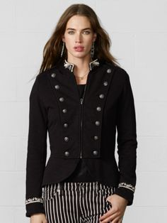 Zip-Front Military Jacket - Denim & Supply Jackets - RalphLauren.com