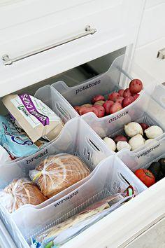 Organized pantry drawer by Jen of I Heart Organizing