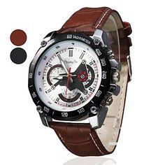relógio+de+marcação+de+design+racing+pu+pulseira+de+couro+de+pulso+de+quartzo+dos+homens+(cores+sortidas)+–+EUR+€+3.43