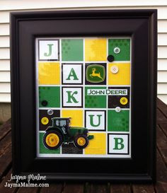 John Deere Theme CustomDesigned What's in a Frame by JaymaMalme, $46.00
