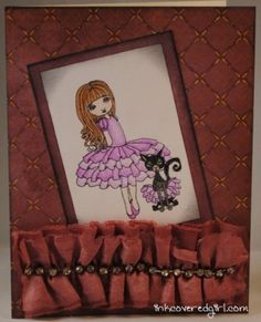 """Card made with the """"Ballerina Francis Mary"""" stamp from Queen Kat Designs"""