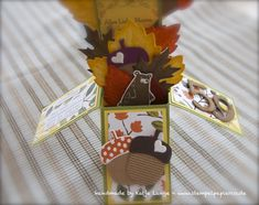 Card in a box / Karte in der Box - Herbstgrüße - Framelits Formen Laub - Vintage Leaves - Stampin' Up! - Herbst - Autumn / Fall