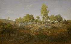 Théodore Rousseau, landscape drawings - A Path among the Rocks, 1861