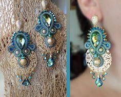 Serena Di Mercione Creation earrings, soutache