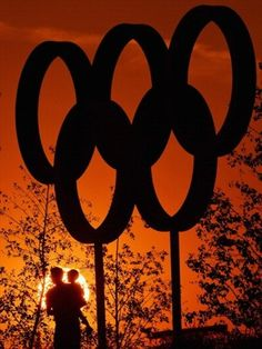 The Olympic Rings at sunset on Day 10 #Olympics Olympics