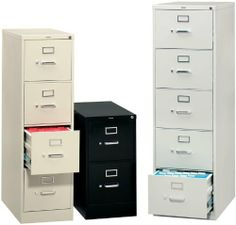 """210 Series 4 Drawer 25"""" Deep Vertical File by Hon. $497.00. 28.5"""" Depth Telescoping steel ball bearing suspension vertical file Standard plunger lock Spring Loaded Follower Block in every drawer High Sided drawers eliminate the need for file folder frames Aluminum drawer pull and label holders Thumb latch Baked enamel finish over rust inhibiting phosphate pre-treatment base Hon limited lifetime warranty Built in volume discounts Made in the USA Hons flagship vertical file"""