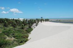 Desert Oasis and Sea   Lençóis Maranhenses National Park Brazil[OC][3872x2592]