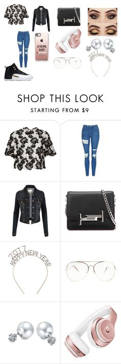 """""""Happy New Years"""" by breezybrebre ❤ liked on Polyvore featuring beauty, Monique Lhuillier, Topshop, LE3NO, Tod's, Bling Jewelry, Beats by Dr. Dre and Casetify"""