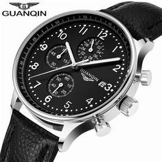 Leather Band Mens Watch Business Analog Quartz Wristwatches Water Resistant Cloc