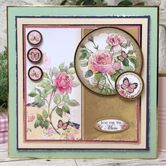 Cards and projects from our Forever Florals Rose collection featuring radiant rose imagery throughout. Hunkydory Crafts, Shabby Chic Cards, Wedding Anniversary Cards, Origami, Card Making Inspiration, Pretty Cards, Card Sketches, Card Tags, Flower Cards