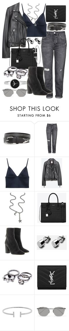 """""""Untitled #20126"""" by florencia95 ❤ liked on Polyvore featuring Topshop, T By Alexander Wang, Zara, Claudia Rowe, Yves Saint Laurent, Étoile Isabel Marant, Humble Chic, Linda Farrow and Christian Van Sant"""