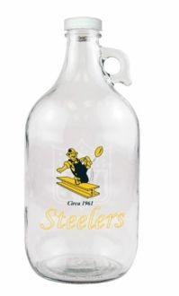 Pittsburgh Steelers Beer Growler with Vintage Steelers Logo