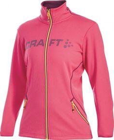 Kurtka do biegania Craft Logo Full Zip W Pink Craft Logo, Mall, Hooded Jacket, Athletic, Zip, Logos, Jackets, Crafts, Fashion