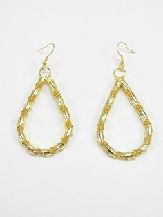 Gold Tear Drop Earrings - $10.00 : FashionCupcake, Designer Clothing, Accessories, and Gifts