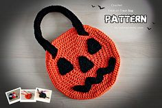 libraries, treats, trickortreat bag, treat bags, crochet halloween, halloween jack, ravelry, bag patterns