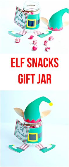 Elf Snacks Gift Jar