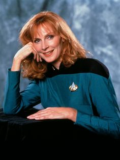 A great shot of Gates McFadden as Dr. Beverly Crusher.