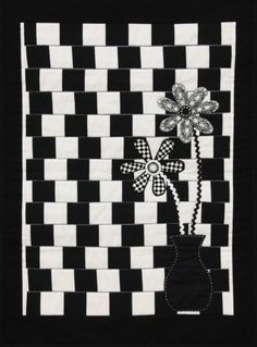 """""""Grey Lines"""" by Annabelle Sullivan.  2014 Canberra Quilters Guild exhibition (Australia)."""